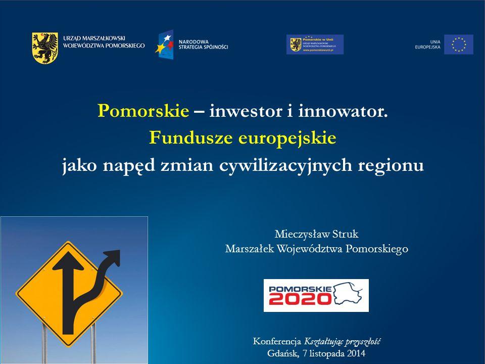 Środki UE dla Pomorza – dotychczas: Środki UE 2004-2013 – plan wykonany
