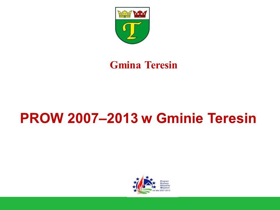 PROW 2007–2013 w Gminie Teresin Gmina Teresin