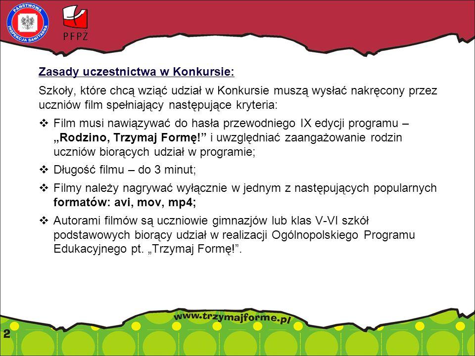 Zasady uczestnictwa w Konkursie:  Każda szkoła może wysłać maksymalnie trzy prace konkursowe.