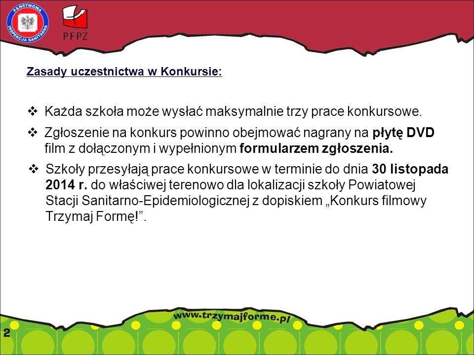 Organizacja Konkursu: Trzy etapy Konkursu: I - powiatowy, II - wojewódzki, III - ogólnopolski.