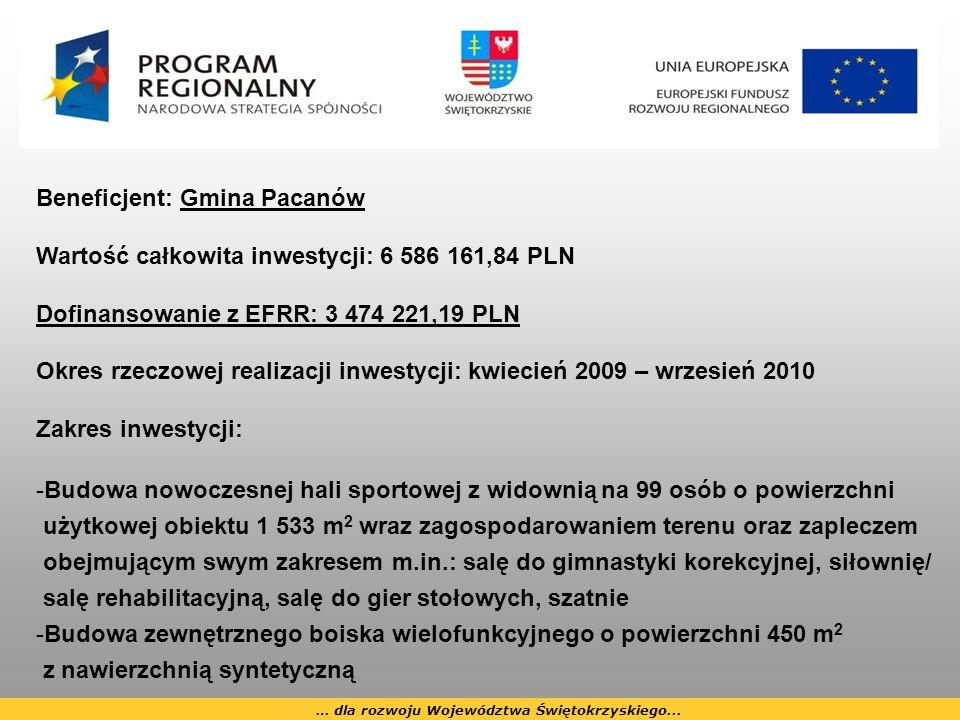 … dla rozwoju Województwa Świętokrzyskiego...