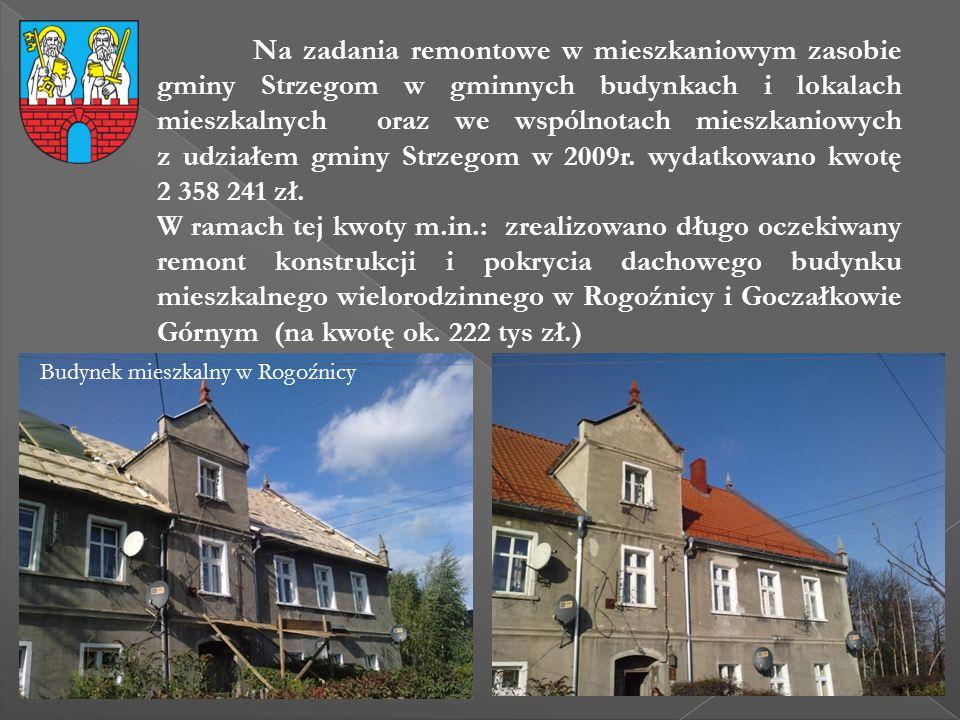 Na zadania remontowe w mieszkaniowym zasobie gminy Strzegom w gminnych budynkach i lokalach mieszkalnych oraz we wspólnotach mieszkaniowych z udziałem