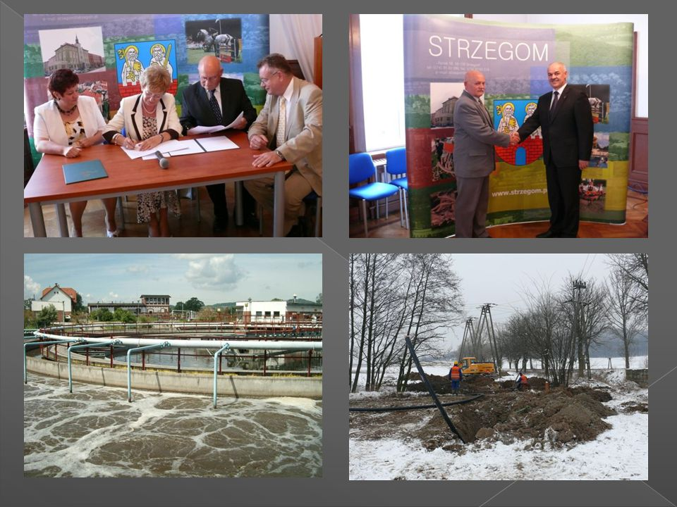 """Na zadanie """"Budowa kanalizacji sanitarnej w Tomkowicach i Granicy Gmina Strzegom w 2009r."""