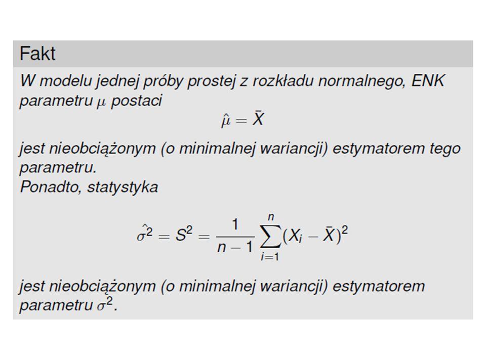 parametrestymator nieobciążony λ μ