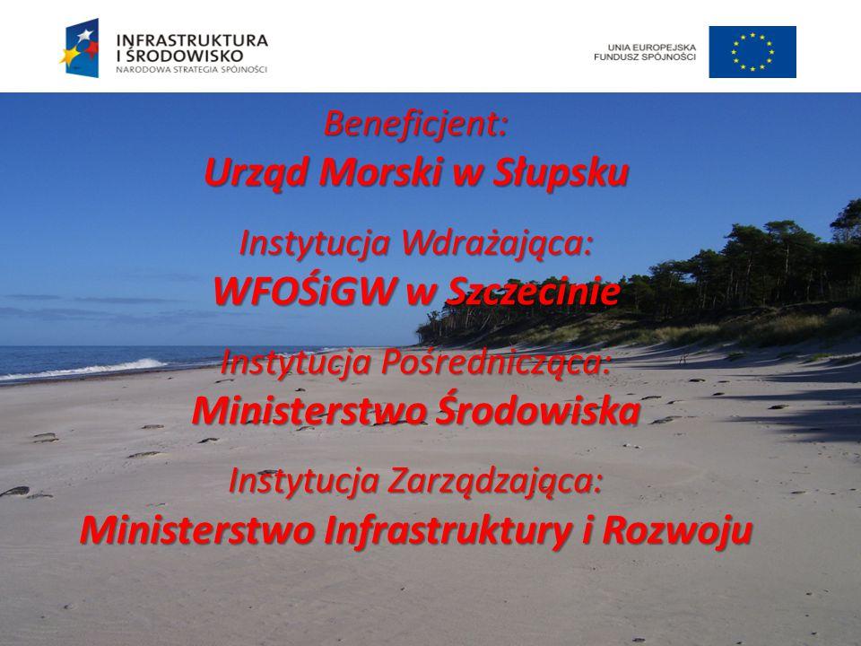 Beneficjent: Urząd Morski w Słupsku Instytucja Wdrażająca: WFOŚiGW w Szczecinie Instytucja Pośrednicząca: Ministerstwo Środowiska Instytucja Zarządzaj
