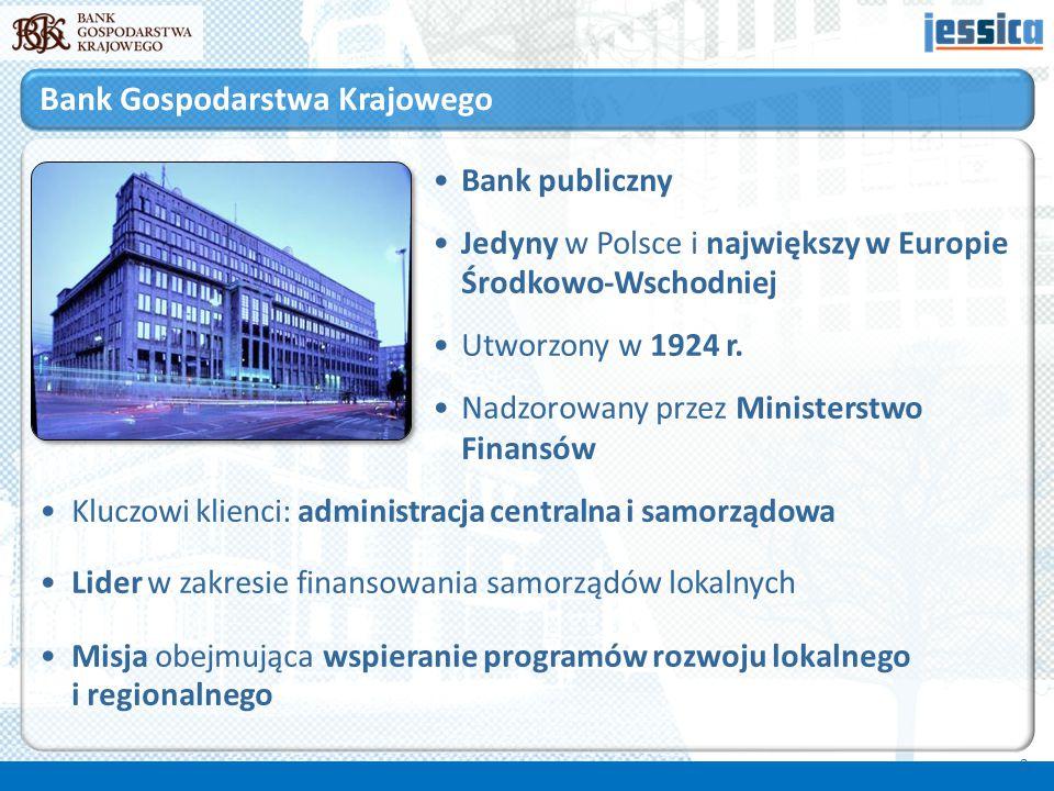 Bank publiczny Jedyny w Polsce i największy w Europie Środkowo-Wschodniej Utworzony w 1924 r. Nadzorowany przez Ministerstwo Finansów Kluczowi klienci