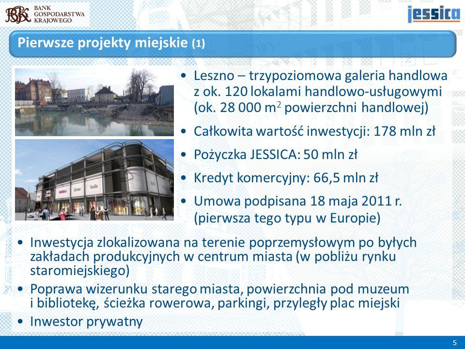 Poznań – instytucja otoczenia biznesu (IOB) – inkubator przedsiębiorczości Jeden z 3 etapów inwestycji obejmującej renowację dwóch starych i budowę trzech nowych budynków Całkowita wartość inwestycji: 30,3 mln zł Pożyczka JESSICA: 18,5 mln zł W każdym budynku znajdzie się wydzielona część technologiczna oraz typowa część biurowa Podpisanie umowy – 8 lipca 2011 r.
