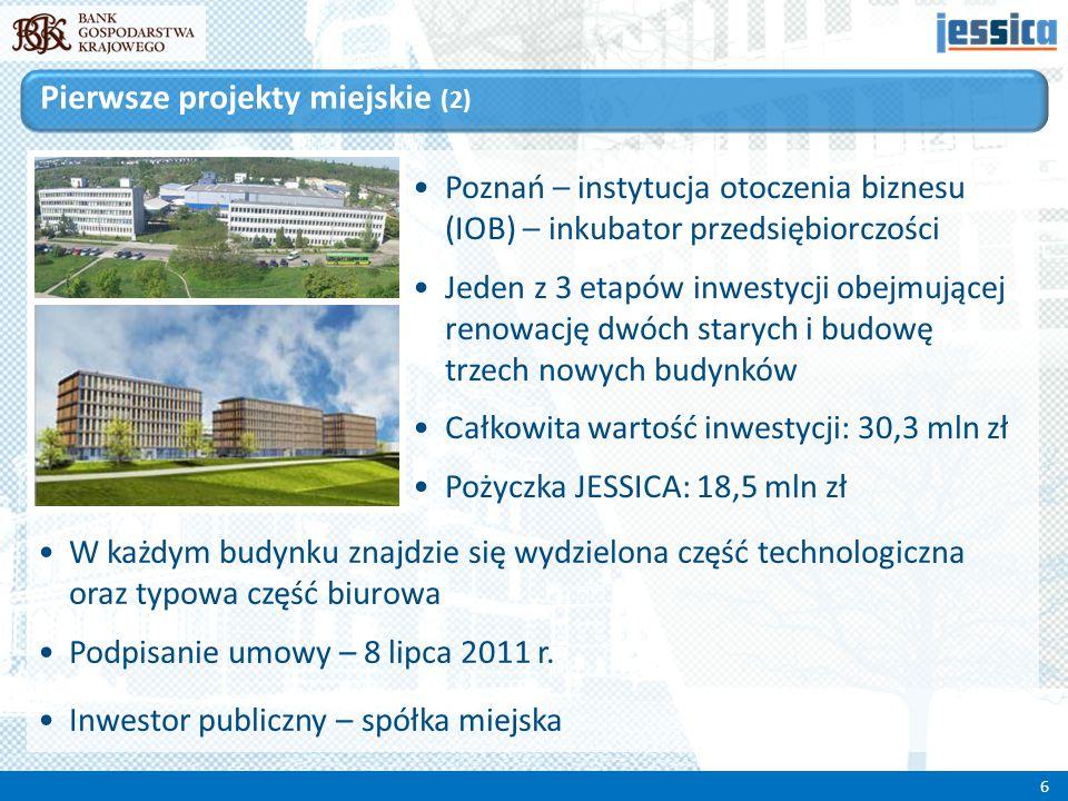 Poznań – instytucja otoczenia biznesu (IOB) – inkubator przedsiębiorczości Jeden z 3 etapów inwestycji obejmującej renowację dwóch starych i budowę tr
