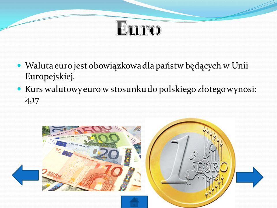 Dolar jest oficjalną walutą Stanów Zjednoczonych Kurs walutowy dolara amerykańskiego w stosunku do polskiego złotego: 3,03