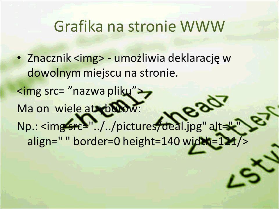 Grafika na stronie WWW Znacznik - umożliwia deklarację w dowolnym miejscu na stronie.