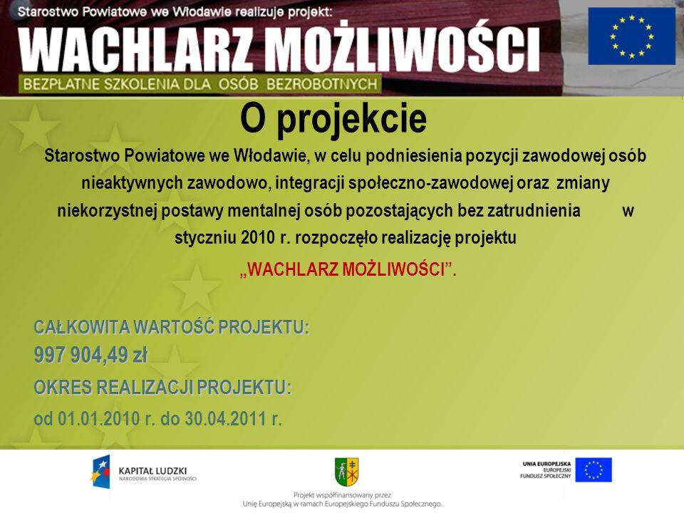 O projekcie Starostwo Powiatowe we Włodawie, w celu podniesienia pozycji zawodowej osób nieaktywnych zawodowo, integracji społeczno-zawodowej oraz zmi