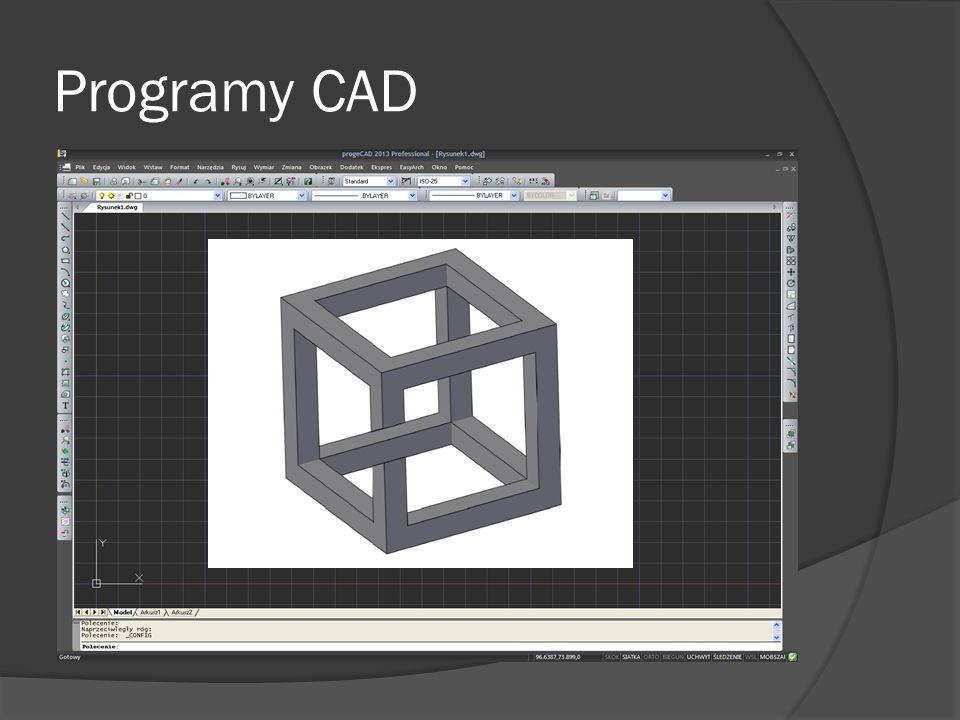 Programy CAD 2D/3D  AutoCAD  Bricscad  ZWCAD  progeCAD 3D  Autodesk Inventor  Solid Edge  Solid Works