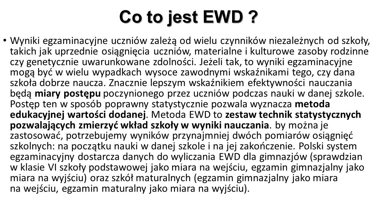 Co to jest EWD .