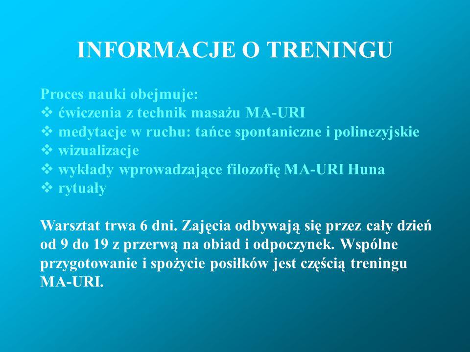 TERMINY Program treningu podstawowego MA-URI obejmuje cykl 4 warsztatów.
