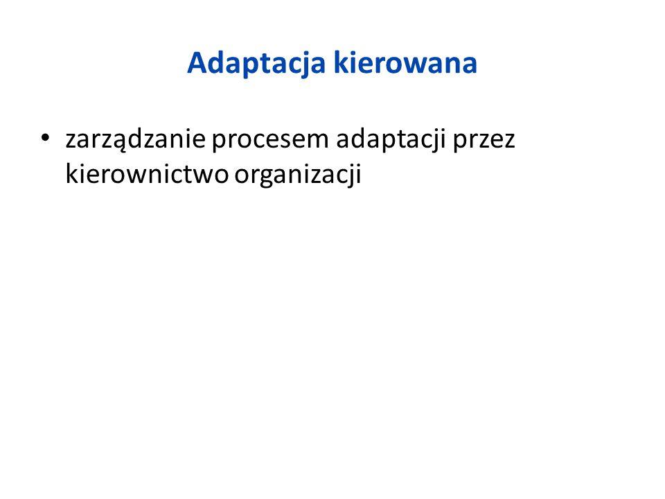 Adaptacja kierowana zarządzanie procesem adaptacji przez kierownictwo organizacji