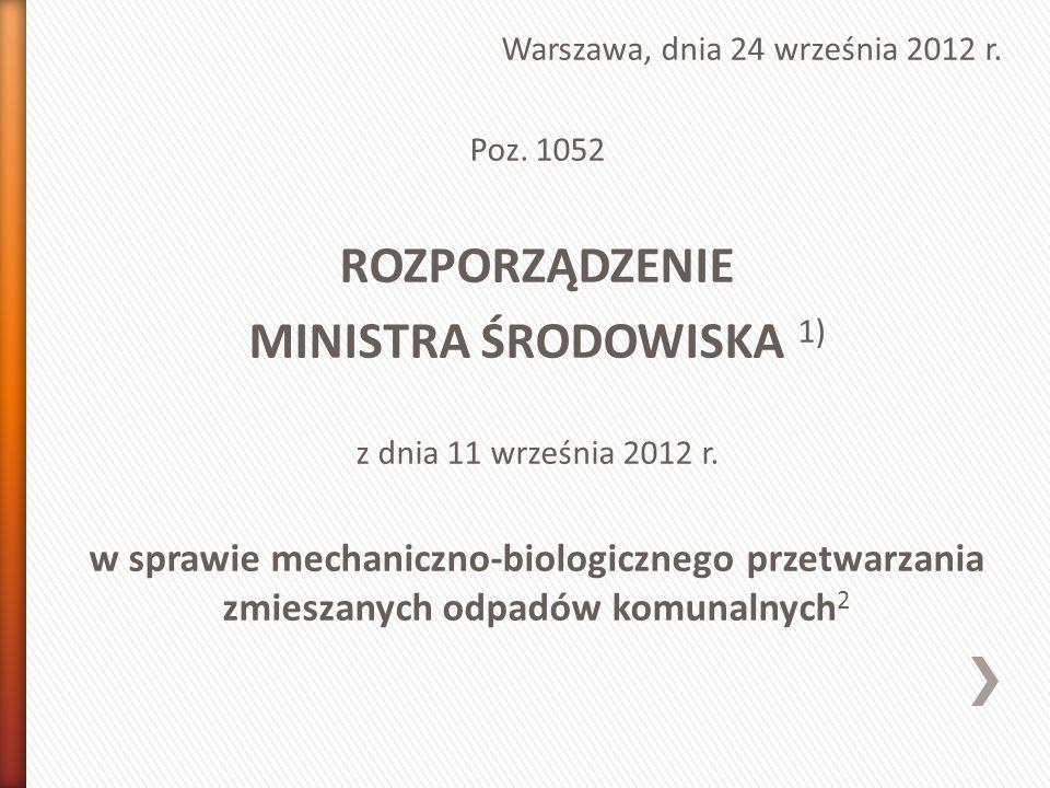 Warszawa, dnia 24 września 2012 r. Poz.