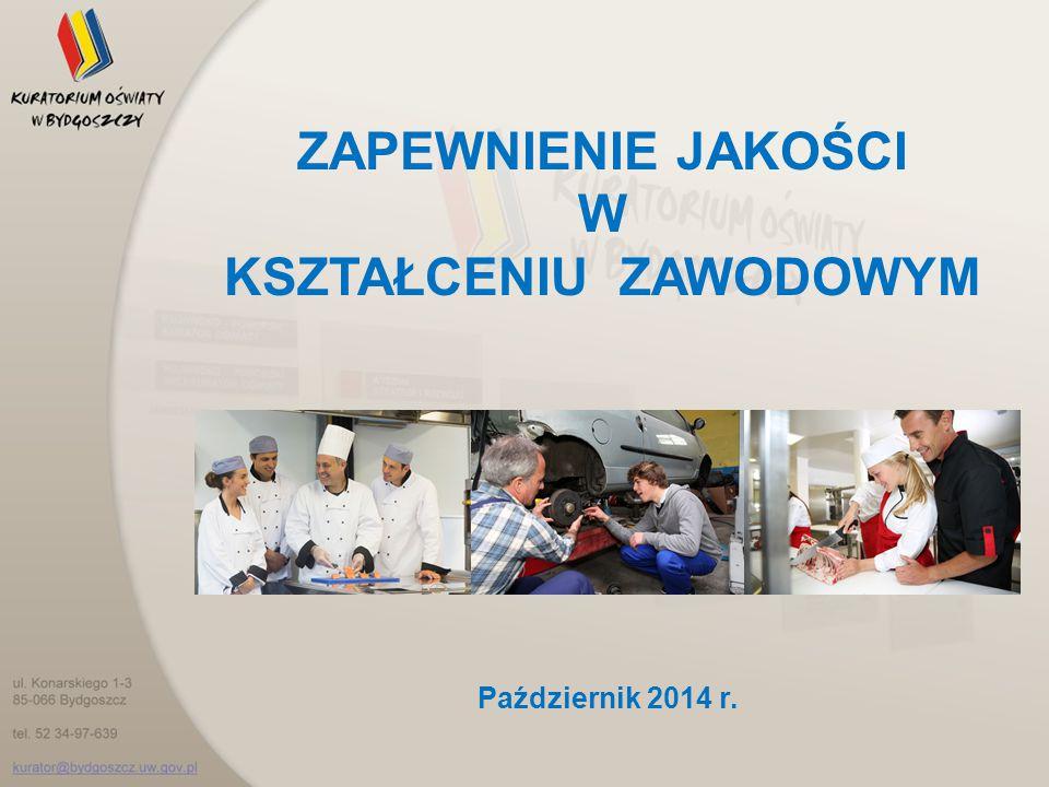 ZAPEWNIENIE JAKOŚCI W KSZTAŁCENIU ZAWODOWYM Październik 2014 r.