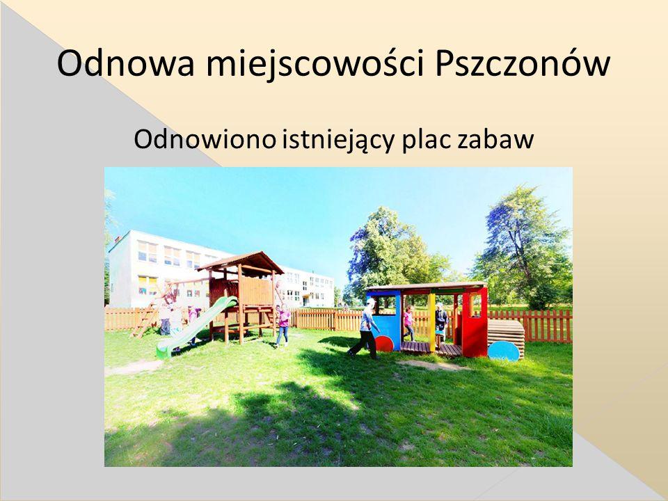Odnowa miejscowości Pszczonów Odnowiono istniejący plac zabaw