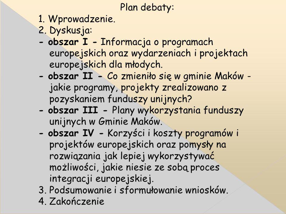 Plan debaty: 1. Wprowadzenie. 2.