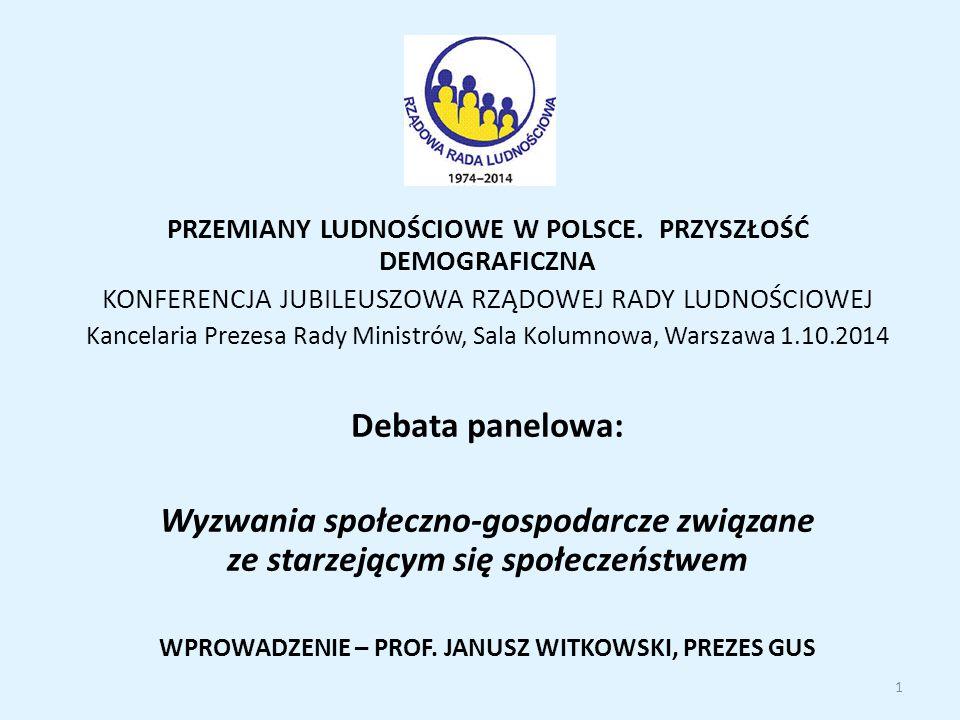 PRZEMIANY LUDNOŚCIOWE W POLSCE.