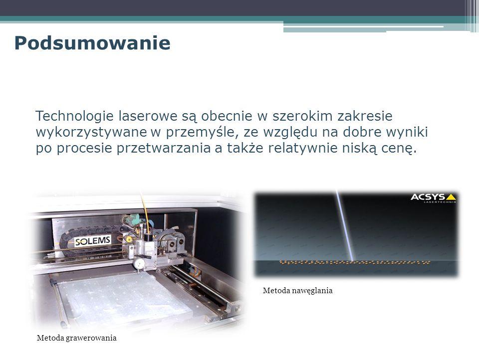 Technologie laserowe są obecnie w szerokim zakresie wykorzystywane w przemyśle, ze względu na dobre wyniki po procesie przetwarzania a także relatywni