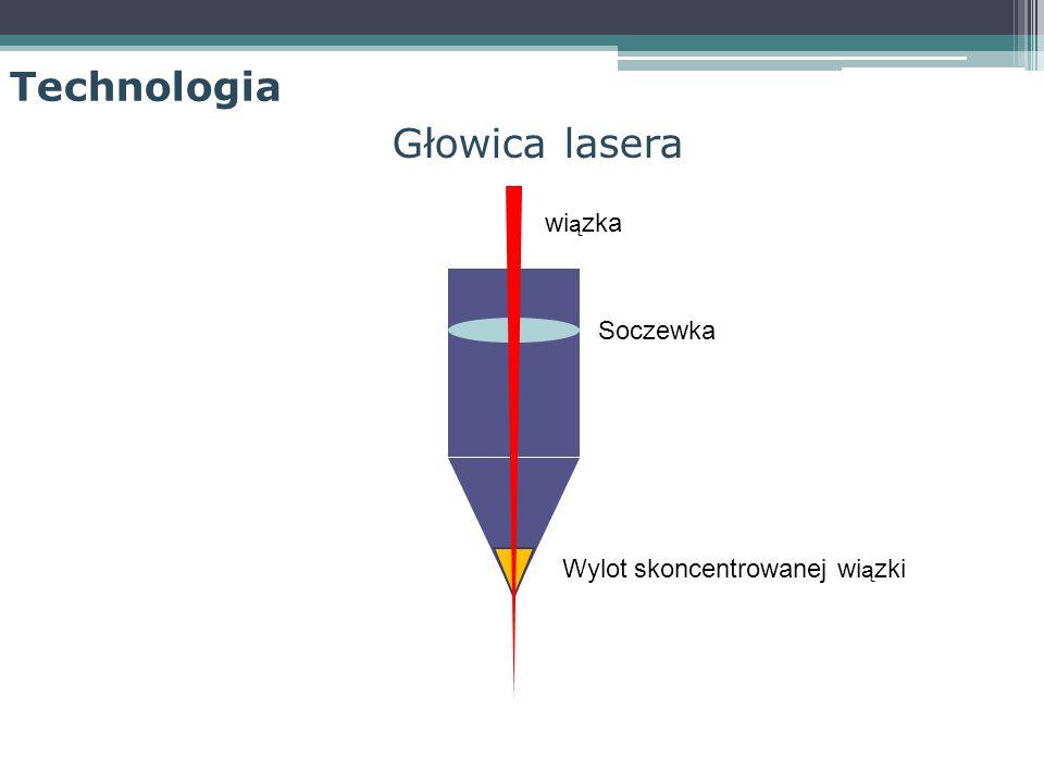 Głowica lasera Soczewka Wylot skoncentrowanej wi ą zki wi ą zka Technologia