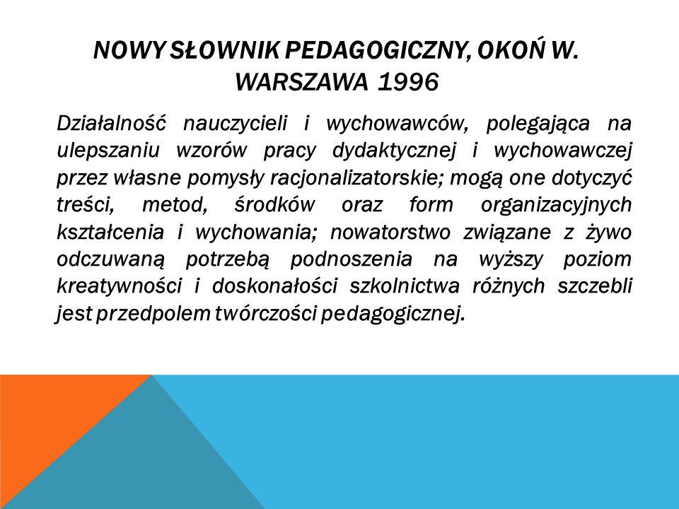 NOWY SŁOWNIK PEDAGOGICZNY, OKOŃ W.