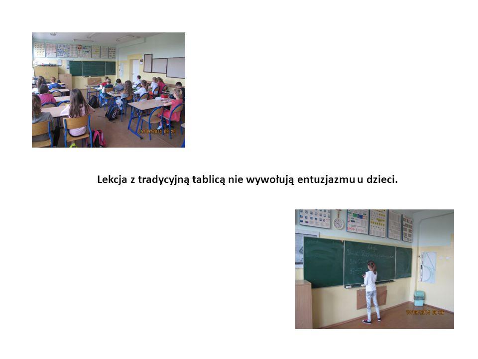 Lekcja z tradycyjną tablicą nie wywołują entuzjazmu u dzieci.