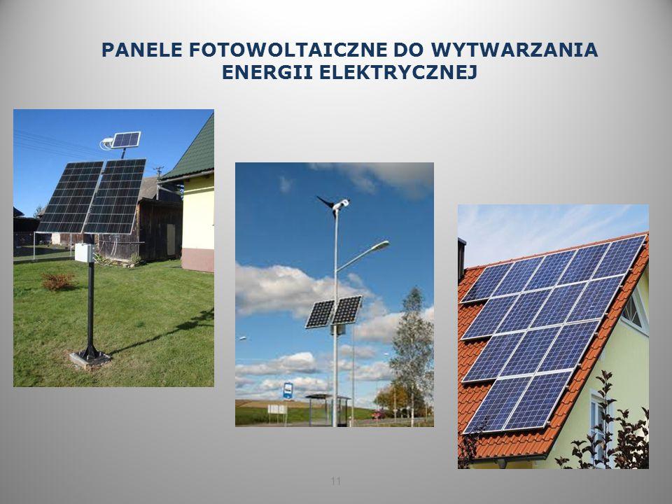 11 PANELE FOTOWOLTAICZNE DO WYTWARZANIA ENERGII ELEKTRYCZNEJ
