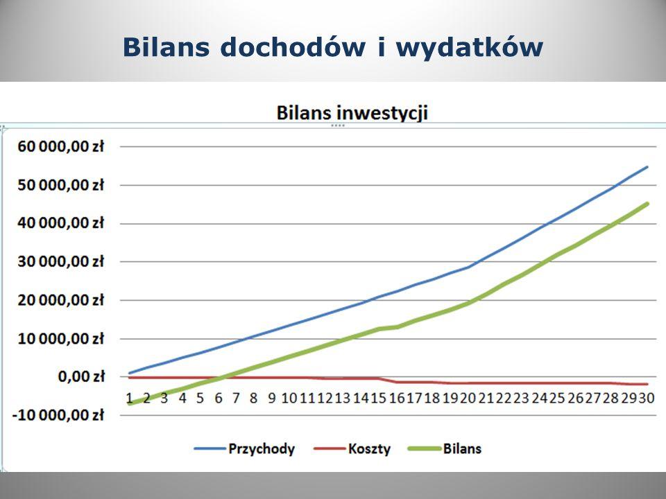Bilans dochodów i wydatków