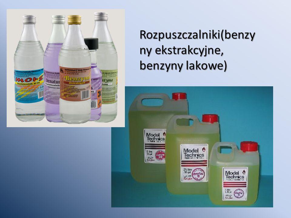 Rozpuszczalniki(benzy ny ekstrakcyjne, benzyny lakowe)