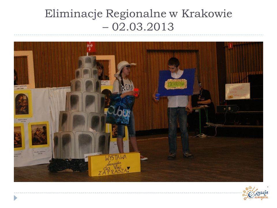 Eliminacje Regionalne w Krakowie – 02.03.2013
