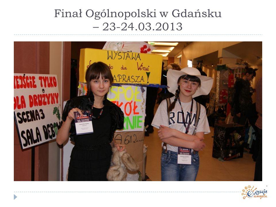 Finał Ogólnopolski w Gdańsku – 23-24.03.2013