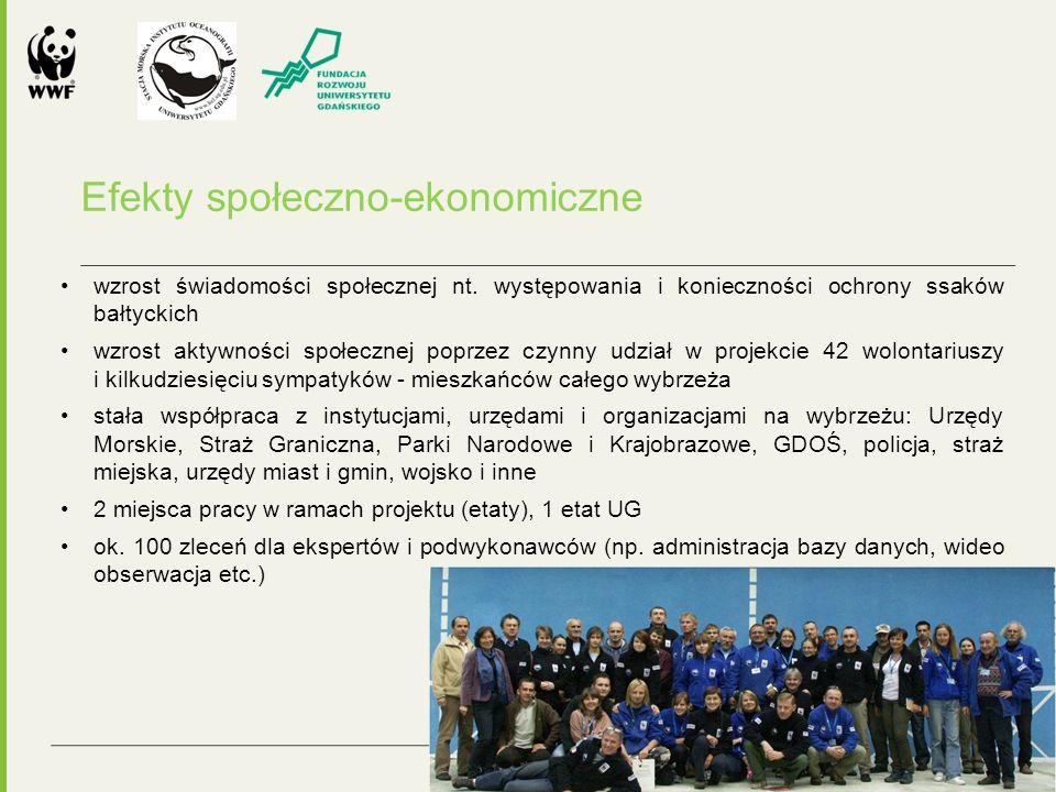 """Efekt domina projektu """"Ssaki bałtyckie Programy ochrony dla morświna i foki szarej Projekt """"Siedliska morskie , będący w dużej mierze kontynuacją, uzupełnieniem i w najważniejszych aspektach rozszerzeniem poprzedniego projektu"""