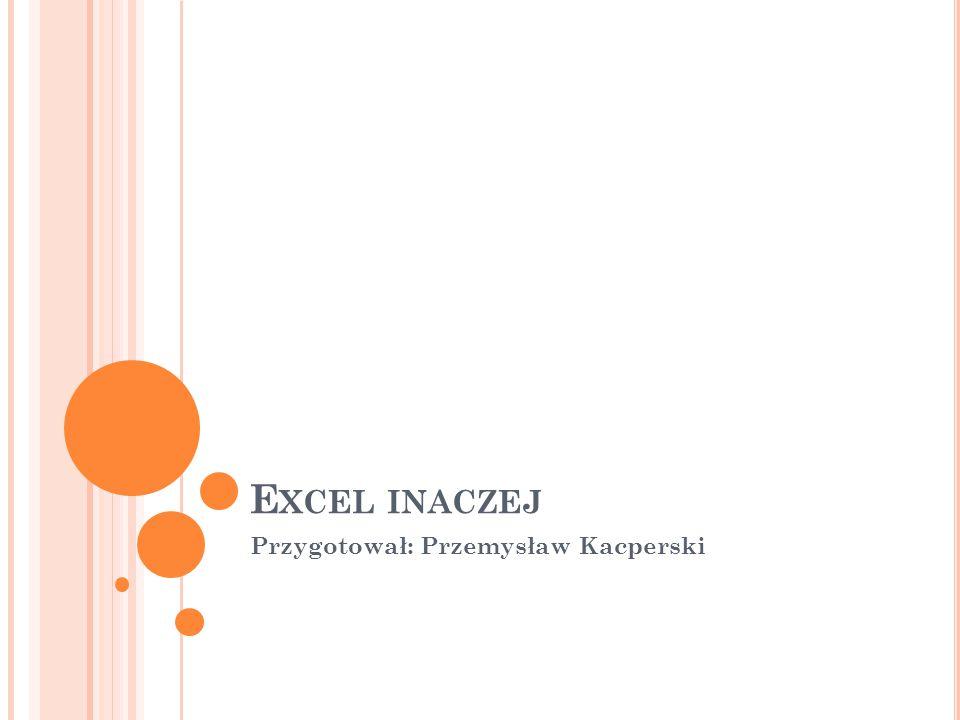 E XCEL INACZEJ Przygotował: Przemysław Kacperski