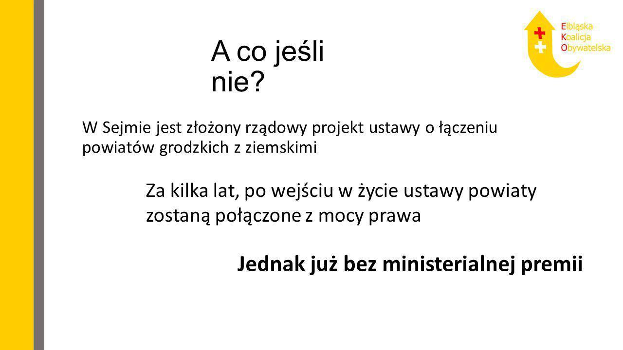 A co jeśli nie? W Sejmie jest złożony rządowy projekt ustawy o łączeniu powiatów grodzkich z ziemskimi Za kilka lat, po wejściu w życie ustawy powiaty