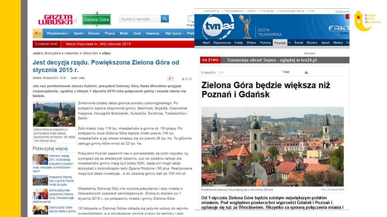 Następstwa utworzenia Aglomeracji Elbląskiej Miasto Elbląg, już bez powiatowego charakteru, wejdzie w skład Powiatu Elbląskiego jako centralny ośrodek Aglomeracji Elbląskiej.