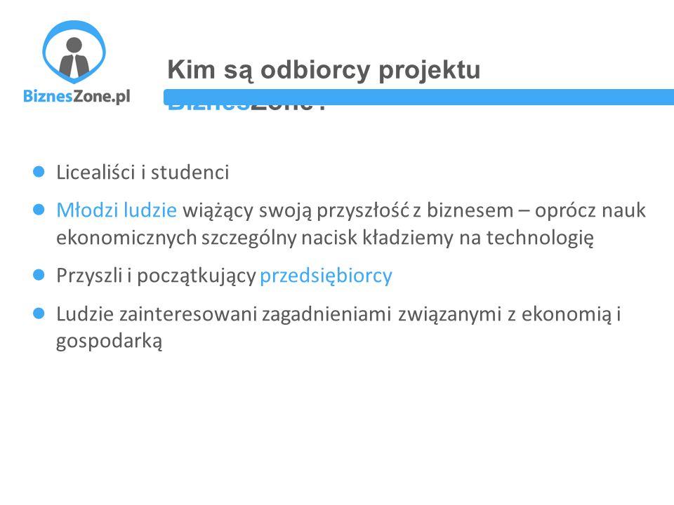Kim są odbiorcy projektu BiznesZone.