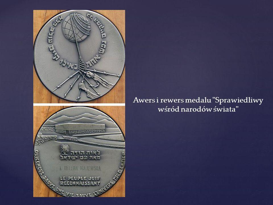 Awers i rewers medalu