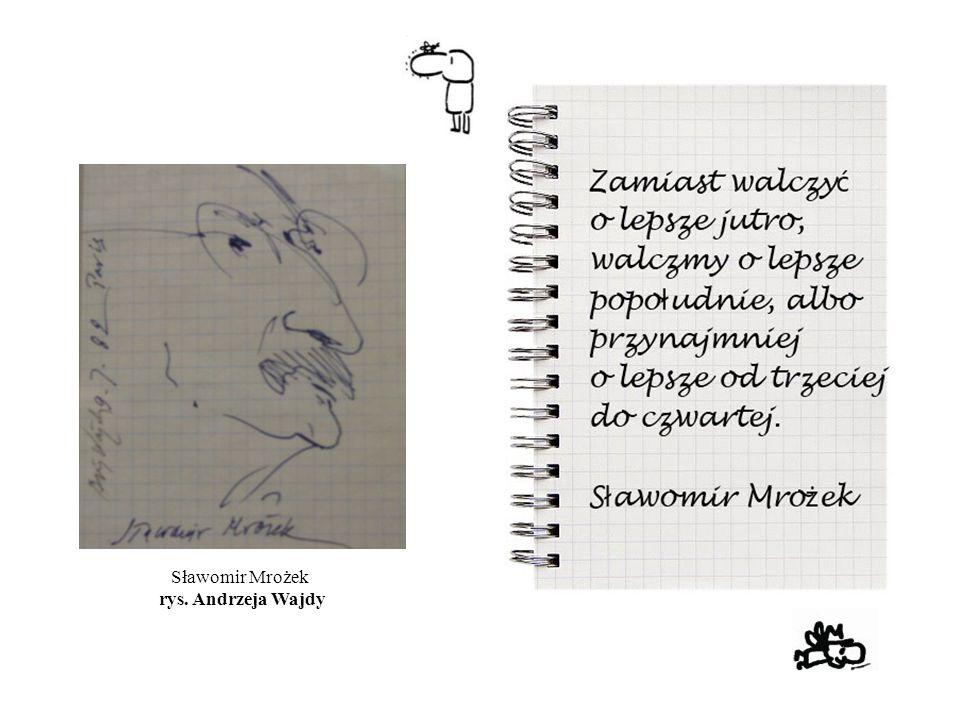 Sławomir Mrożek rys. Andrzeja Wajdy