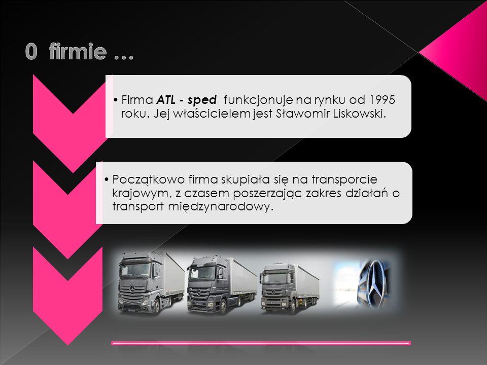 Firma ATL - sped funkcjonuje na rynku od 1995 roku. Jej właścicielem jest Sławomir Liskowski. Początkowo firma skupiała się na transporcie krajowym, z