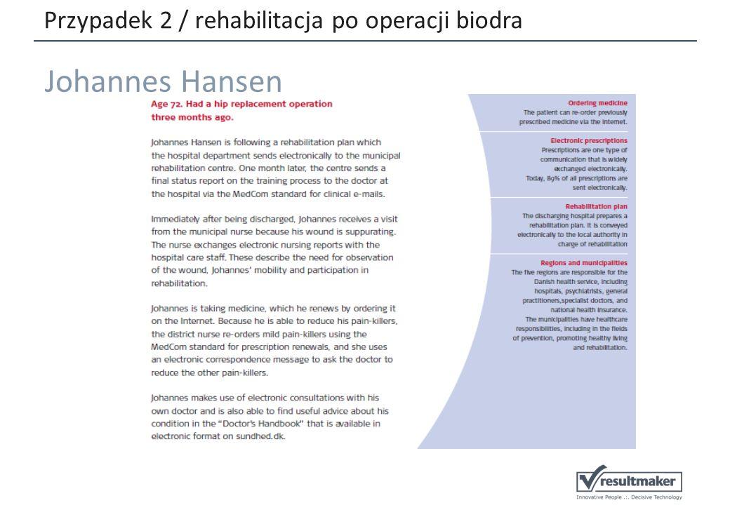 Przypadek 2 / rehabilitacja po operacji biodra Johannes Hansen