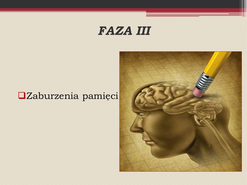 FAZA III  Zaburzenia pamięci