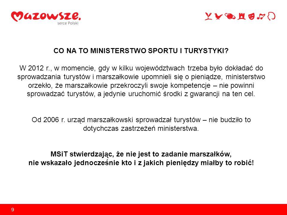 9 CO NA TO MINISTERSTWO SPORTU I TURYSTYKI.