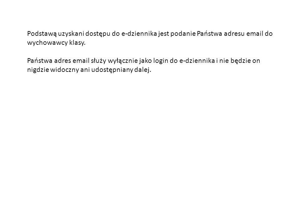 Po dopisaniu przez wychowawcę adresu e-mail do kartoteki Państwa dziecka, należy zarejestrować się na stronie.