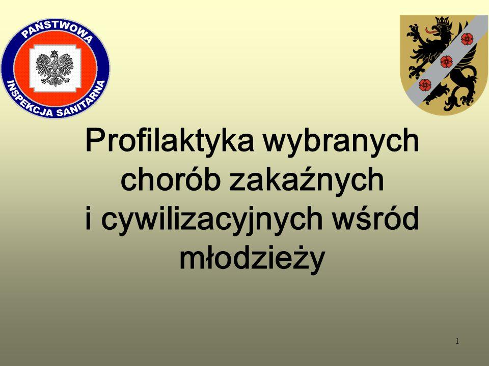 42 Profilaktyka nowotworowa W Polsce rak szyjki macicy jest drugim co do częstości występowania nowotworem narządów płciowych u kobiet do 45 roku życia.