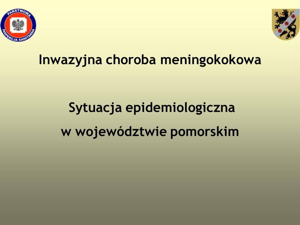 Inwazyjna choroba meningokokowa Sytuacja epidemiologiczna w województwie pomorskim