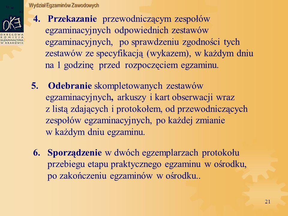 Wydział Egzaminów Zawodowych 21 4.