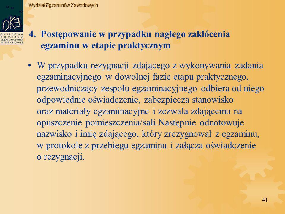 Wydział Egzaminów Zawodowych 41 4.