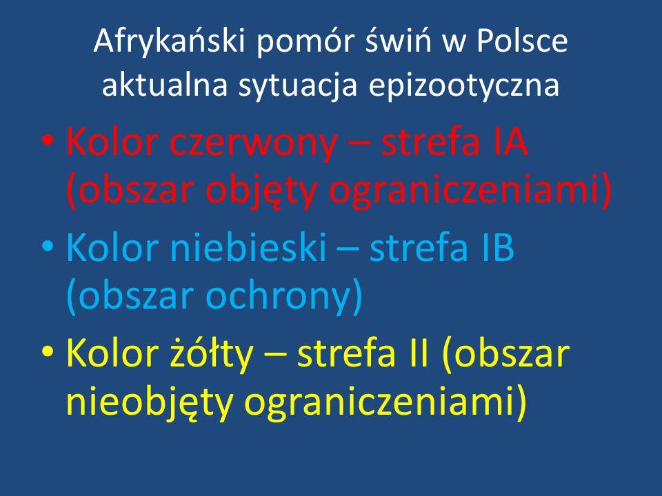 Kolor czerwony – strefa IA (obszar objęty ograniczeniami) Kolor niebieski – strefa IB (obszar ochrony) Kolor żółty – strefa II (obszar nieobjęty ogran